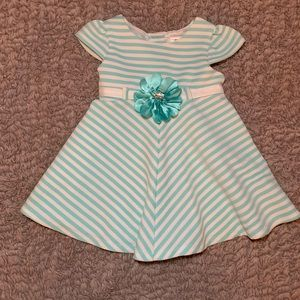 👗 Blue and white floral toddler dress 👗